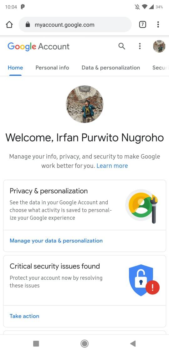 Cara ganti password gmail langsung di HP