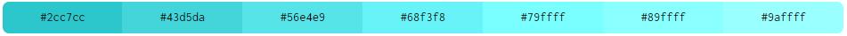 Kode Hex Warna Tosca Monokromatik