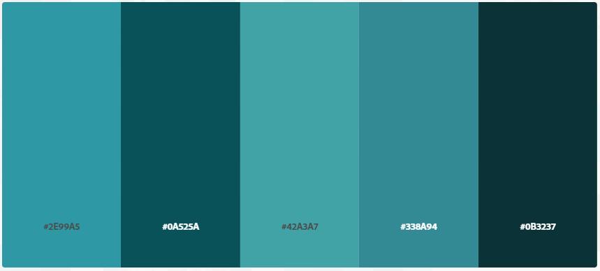 Kode Hex Warna Biru Tosca