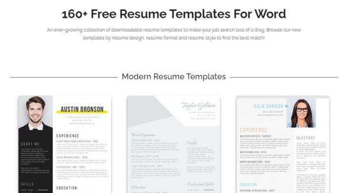 Template CV Word Gratis
