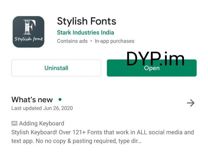 Merubah Font IG dengan Aplikasi