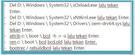 BCD - Cara mengatasi error 0xc0000005
